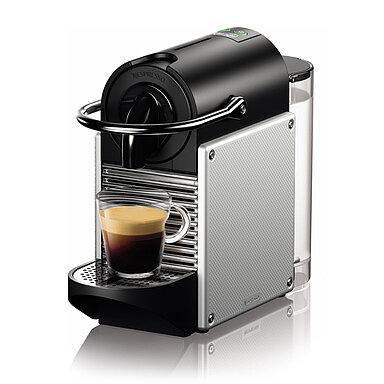 Produktabbildung DeLonghi EN124.S Nespresso Pixie electric aluminium