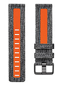 Gewebearmband (L) charcoal/orange