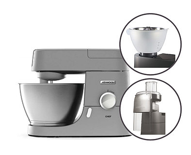 Produktabbildung Kenwood SET KVC3170S Chef silber + AT312 + AT340