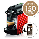 SET XN3045 Nespresso Pixie electric red + 4 x F054001