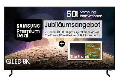 Produktabbildung Samsung SET QE75Q950RBT + QE43LS03RAU The Frame 3.0 kohlschwarz