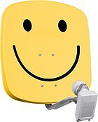 DigiDish 45 Universal-Twin-LNB smiley/gelb