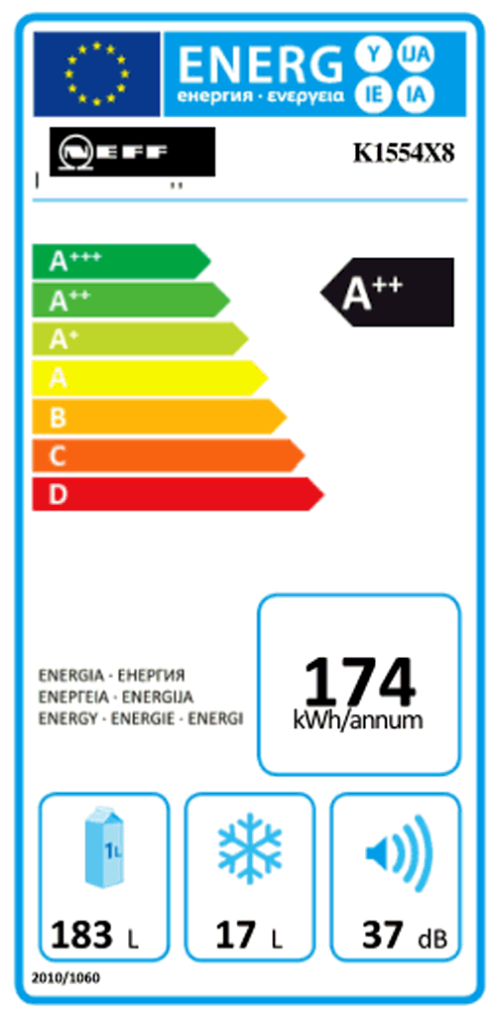 Neff K424A2 (K1554X8) A++ Einbau Kühlschrank, Nischenhöhe
