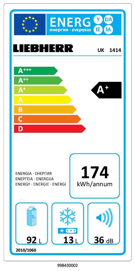 Liebherr UK 1414-23 weiß Unterbau-Kühlschrank - RED ZAC Austria